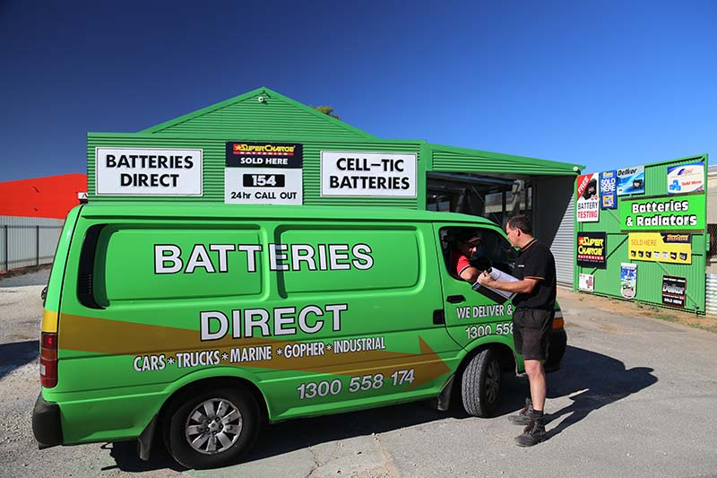 A van used for our battery services in Adelaide
